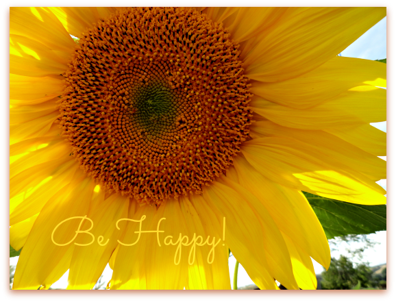 sunflower be happy